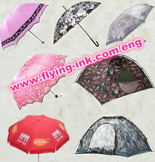 Sublime transfer ink for umbrella and tent